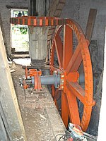 Polkey's Mill 2 - Reedham Marshes. Shows the internal drive gearing undergoing restoration.