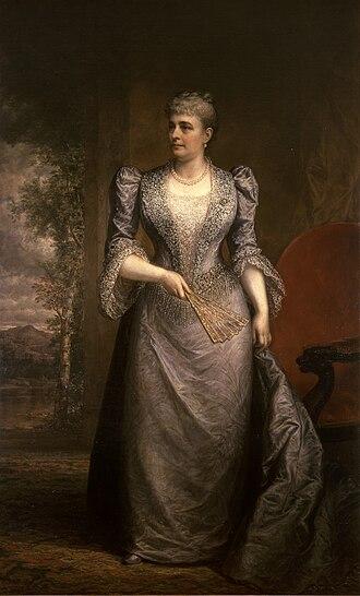 Caroline Harrison - Official White House portrait