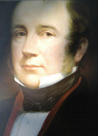 Joshua Bates (financier) - Part of a portrait of Bates, by an unknown artist, 1820s.