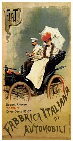 A 1899 FIAT advertisement Poster FIAT by Giovanni Carpanetto.png