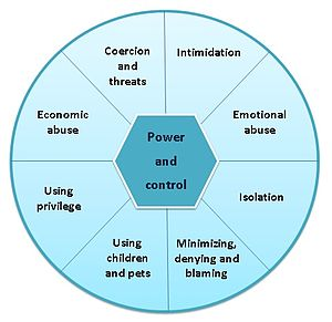 Abusive power and control - Image: Power and control wheel