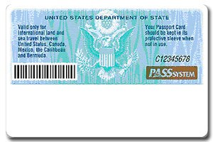 United States Passport Card - Figure 2: Card back artwork.(2008)