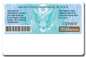 United States Passport Card - Figure 2: Card back artwork.(2008)