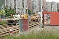 Praha, Řepy, Sídliště Řepy, rekonstrukce tramvajové konečné, práce II.JPG