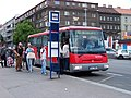 Praha, Na Knížecí, Ostrovského, SOR C 10,5, Arriva Praha, D93 Březnice.jpg