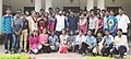 """Prakash Javadekar with the students, predominantly Tribals from Nandurbar, Dhule and Jalgaon districts of Maharashtra, they are among the top winners of the """"reading competition"""" conducted under """"Read India.jpg"""