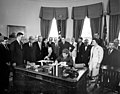 President John F. Kennedy Signs the Social Progress Trust Fund Agreement with the Inter-American Development Bank 03.jpg