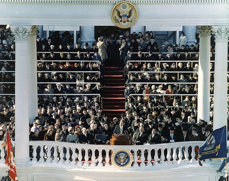 File:President Kennedy inaugural address (color).jpg