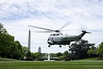 President Trump and First Lady Melania Trump Depart the South Lawn (46772319155).jpg