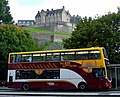 Princes Street, bus and castle - geograph.org.uk - 2582630.jpg