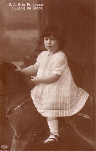 Princess Eugénie of Greece and Denmark - Princess Eugenie as a child