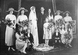 Princess Patricia of Connaught - Wedding party at Princess Patricia's marriage to Alexander Ramsay on February 27, 1919