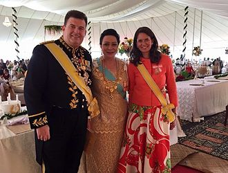 Salote Mafileʻo Pilolevu Tuita - Princess Salote with Princess Marie-Therese of Hohenberg, Mrs. Bailey and Anthony Bailey at her younger brother coronation on 4 July 2015.