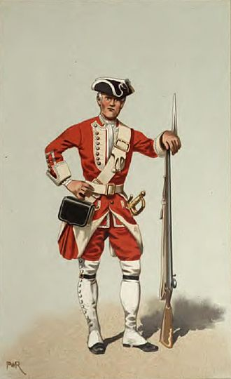 40th (the 2nd Somersetshire) Regiment of Foot - Private, 40th Regiment of Foot, Nova Scotia, 1742
