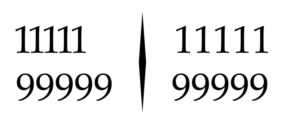 Proportional & tabular figures