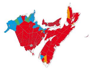 Sprachenverteilung in den kanadischen Seeprovinzen