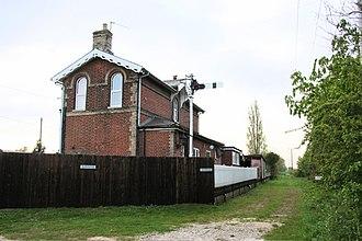 Pulham Market railway station - Image: Pulham Market railway station in 2008