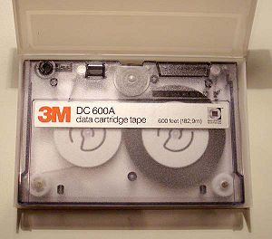Quarter-inch cartridge - QIC DC 600A cassette.
