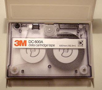 Quarter-inch cartridge - QIC DC 600A cassette.