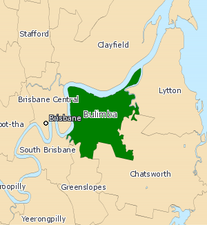 Electoral district of Bulimba - 2008 map of Bulimba