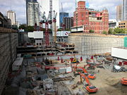 QV Building construction site, Melbourne - March 2002.jpg