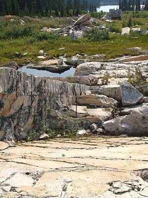Quartzite - Abandoned quartzite mine in Kakwa Provincial Park, British Columbia, Canada