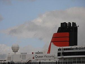 Queen Victoria' Funnel 18 May 2012 Port of Tallinn.JPG