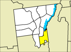 Location of Queensbury within Warren County