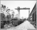 Queensland State Archives 3449 Rocklea workshops gantry crane Brisbane 22 November 1937.png
