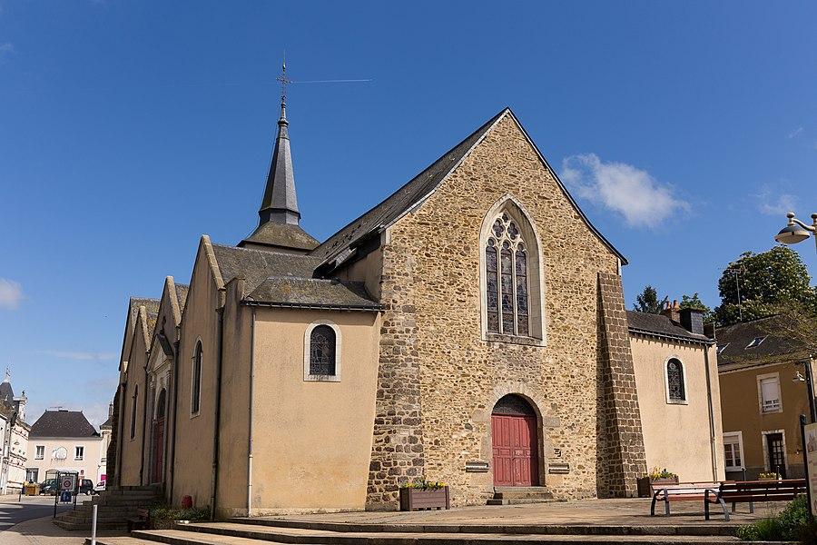 Church of Quelaines-Saint-Gault.