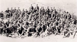 5/42 Evzone Regiment - Soldiers of the 5/42 Regiment in Asia Minor, 1921