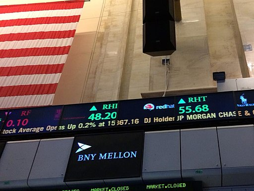 NYSE event and news ticker. Photo by Christine Puccio. Creative Commons Attribution-Share Alike 2.0 Generic license.