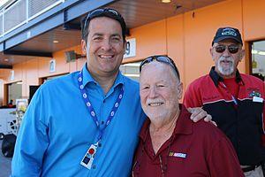 Ralph Sheheen - Sheheen with Owen Kearns at Las Vegas Motor Speedway in 2015