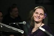 Rachel Flowers smiling at Taylor Eigsti