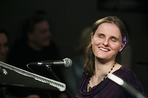Rachel Flowers with the Taylor Eigsti Trio at the Blue Whale, Los Angeles, California, January 15, 2015