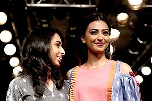 Radhika Apte - Apte walks the ramp for Meraki Project at the Lakme Fashion Week, 2016
