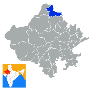 District of Rajasthan in India