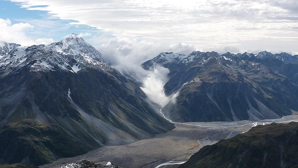Rakaia River from Butler Saddle New Zealand Aotearoa