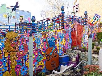 Randyland - Image: Randyland Outside Fence Mural
