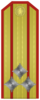Rank insignia of Полковник of the Bulgarian Army.png
