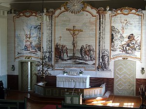 Mikael Toppelius - The Altarpiece at Rantsila Church.