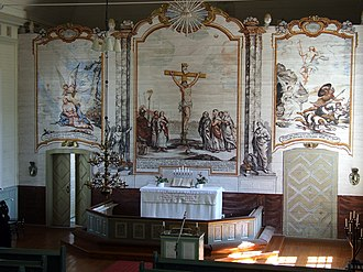 Mikael Toppelius - The Altarpiece at Rantsila Church.