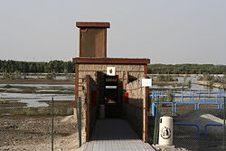 One of the three hides at the Ras al Khor Bird Sanctuary