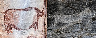 North-West District (Botswana) - Rock art in Tsodilo hills