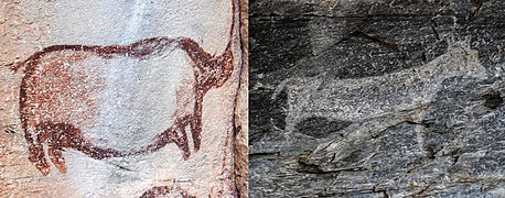 Red and White Rock Art Tsodilo Botswana.jpg