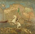 Redon - Rider on the Beach with Two Ships, 1905–1908.jpg
