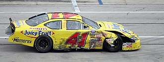 Reed Sorenson - Sorenson in his 2007 Busch Series car after an accident