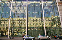 Reflection in window, Imperial College, London SW7 - geograph.org.uk - 1128849.jpg