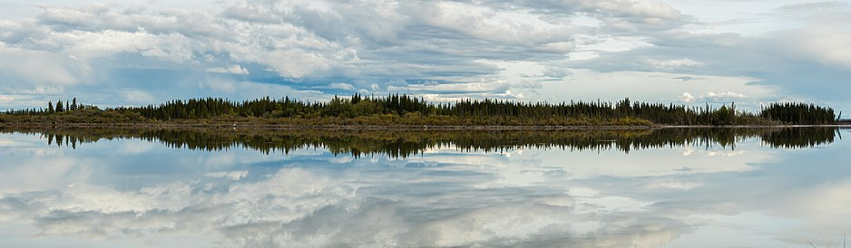 Reflexions in the Tetlin National Wildlife Refuge, Alaska, United States