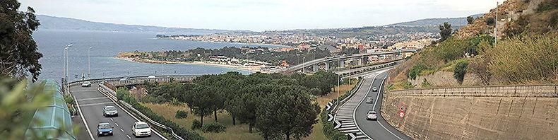 Reggio Calabria: termine dell'autostrada A3 e innesto del RA 4